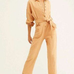 Free People Something To Love Button Jumpsuit New